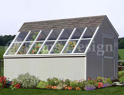 10 x 14 greenhouse garden storage shed plans material