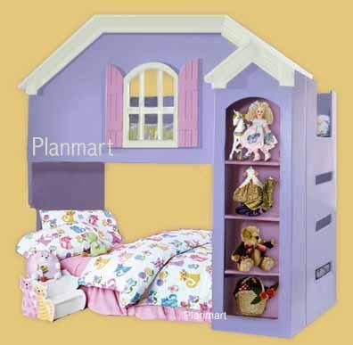 Dollhouse Loft / Bunk Bed Furniture Woodworking Plans