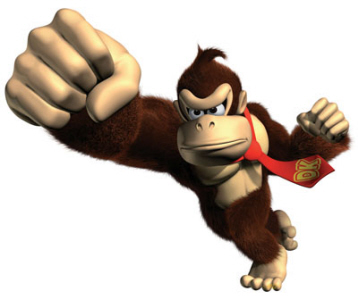 There's a reason why Donkey Kong is so strong...he eats bananas