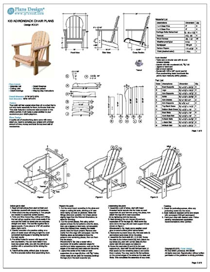 adirondack chair plans materials