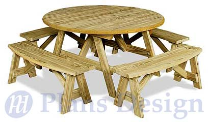 Classic Octagon Picnic Table Woodworking Plans Blueprints ODF08 eBay