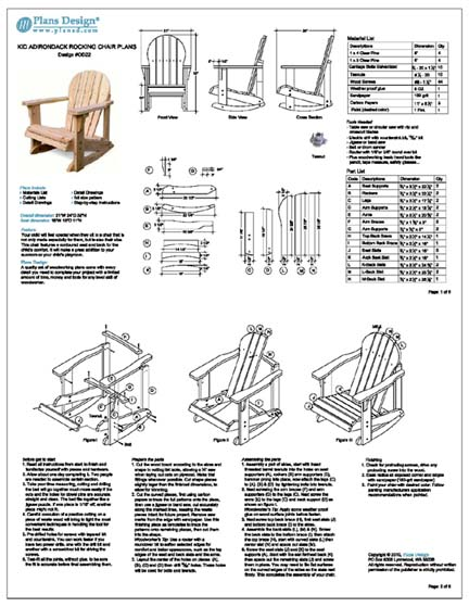 Kid Adirondack Rocking Chair Woodworking Project Plans ...