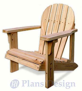 Child adirondack chair with pattern trace and cut woodworking plans odf21 ebay - Patterns for adirondack chairs ...