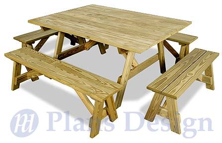 Details about Traditional Octagon Picnic Table Plans / Pattern #ODF06