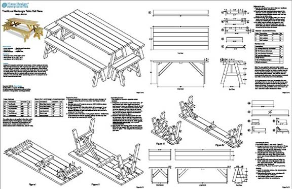 plans for picnic tables with separate benches | Discover Woodworking Projects