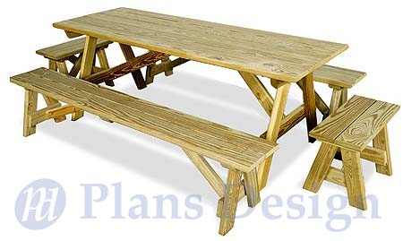 plans picnic table bench