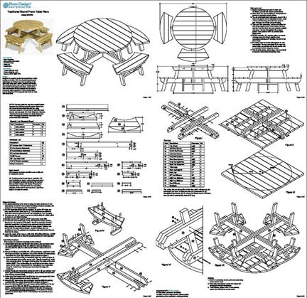PDF DIY Plans Round Picnic Table Download playhouse floor plans ...