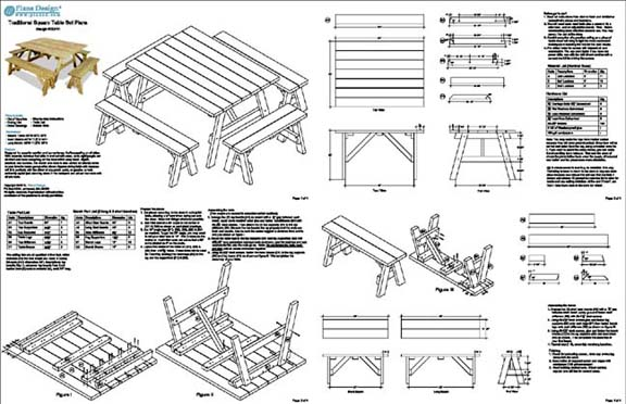 Plans For Picnic Table With Detached Benches