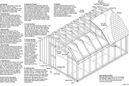 12 39 x16 39 barn storage shed plans buy it now get it fast for Free shed design software with materials list