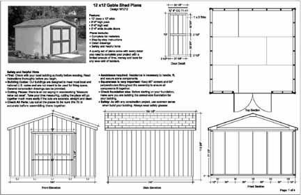 Shedplan complete shed plans free 12x12 144 for 12x12 house plans
