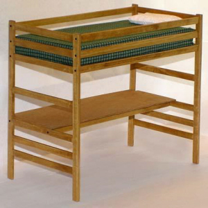 Children's Twin Loft Bed with Desk Woodworking Plans | eBay