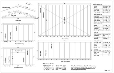 Framing a 12x20 shed foundation