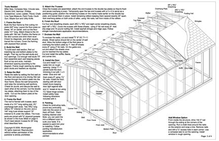 12x20 gable storage shed plans buy it now get it fast ebay for 12 x 20 shed floor framing