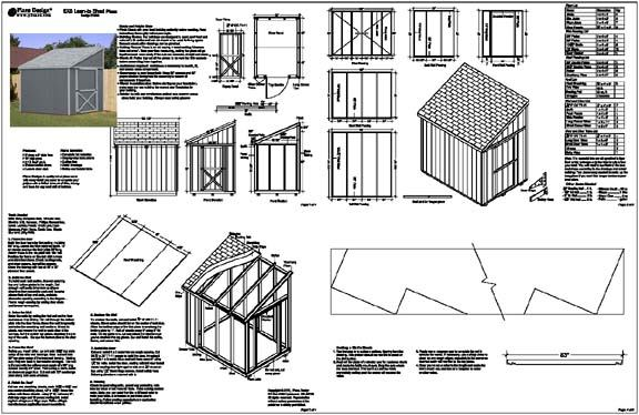 details about 6x8 slant lean to style shed plans see samples