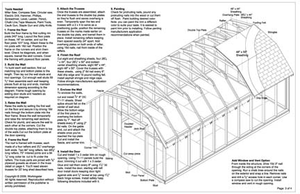 12x20 barn storage shed plans buy it now get it fast ebay for 12 x 20 shed floor framing