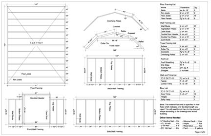 Barn shed plans 10 x 16 for Free shed design software with materials list
