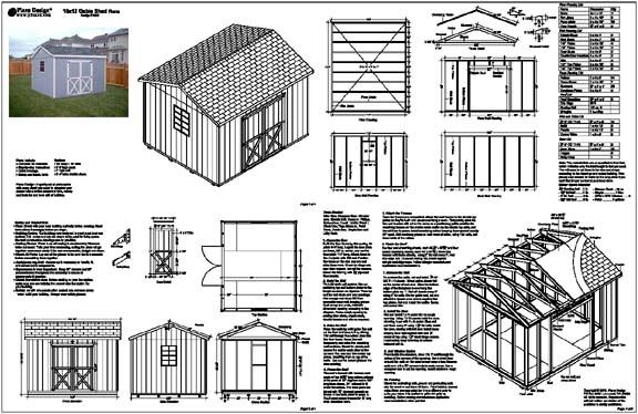 Free plans on how to build a 10x12 shed dan pi for Gable barn plans