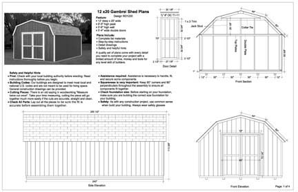 12x20 Barn Storage Shed Plans, Buy It Now Get It Fast! | eBay