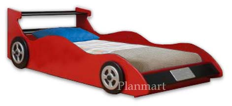 Twin Race Car Bed Plans
