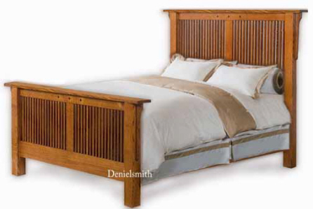 shaker mission queen or king bed woodworking plans ebay