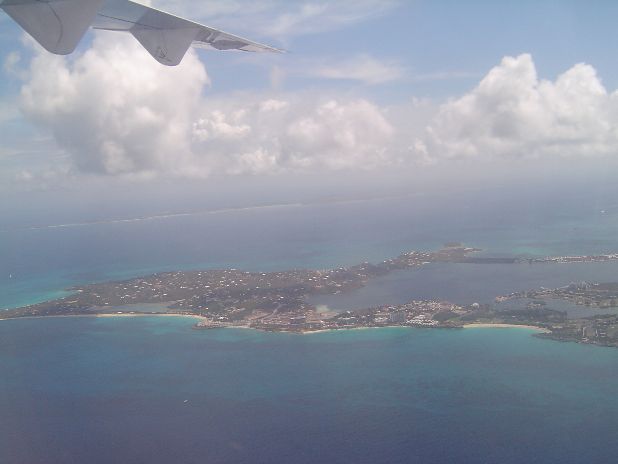 St. Martin from our plane