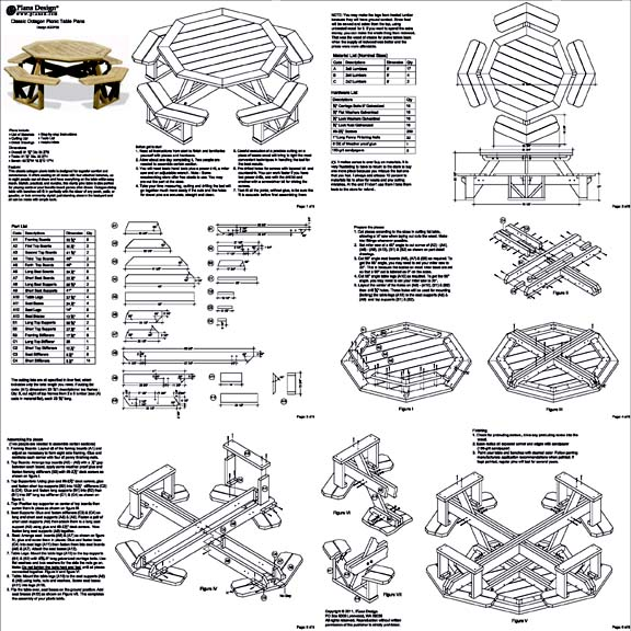 8 Sided Picnic Table Plans